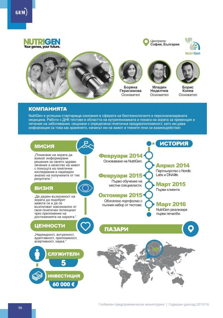 Инфографика на GEM за NutriGen стр. 1